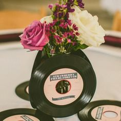 Amp up your tablescape with records.