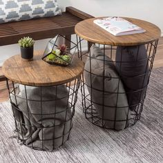 DIY home decor, let's read the cool, clever ideas in room design, check this feature ref 8220661286 here. End Table Sets, End Tables, Coffee Tables, Farmhouse Side Table, Farmhouse Decor, Farmhouse Ideas, Ikea Hack, Diy Home Decor Rustic, Minimalist Apartment