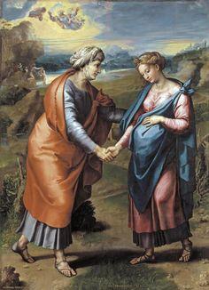 Raphael (Raffaello Sanzio) -  Visitation c. 1517