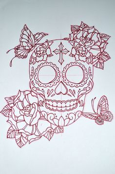 Sugar Skull design by AvengedGinge.deviantart.com on @DeviantArt
