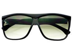 High Fashion Retro Style Square Flat Top Sunglasses Black FT581