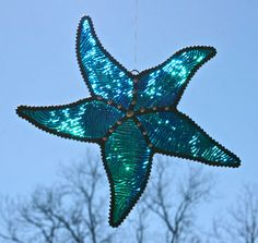 Stained+Glass+STARFISH+Suncatcher+Twilight+by+stainedglasswhimsy,+$21.00