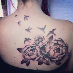 Today's peony #tattoo, her first! #tattoos #twelve28tattoo