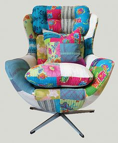 patchwork egg chair - love it!!