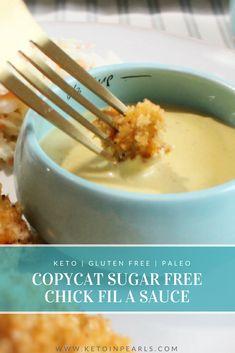 Copycat Chick-Fil-A sauce made keto friendly! No sugar, zero carb, and paleo friendly!