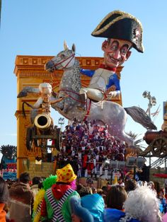 Viareggio Carnevale: Viareggio comes alive when thousands of costumed revelers parade elaborately decorated floats and huge, towering characters past a million spectators.