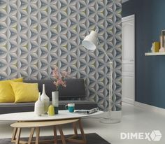 Feature Wallpaper Flower Geometric Funky Modern Grey Teal Olive Mink Retro for sale online Geometric Wallpaper Retro, Scandi Wallpaper, Striped Wallpaper, Modern Wallpaper, Colorful Wallpaper, 3d Wallpaper, Designer Wallpaper, Pattern Wallpaper, Scandinavian Wallpaper