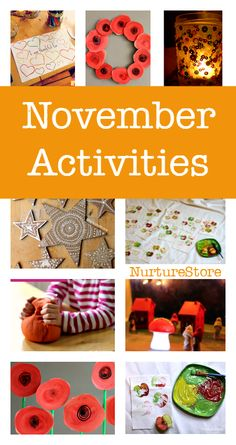 Things to do with children in November? These November activity plans are perfect for play-based, creative learning. Thanksgiving crafts and printables