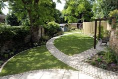Image result for long narrow garden design