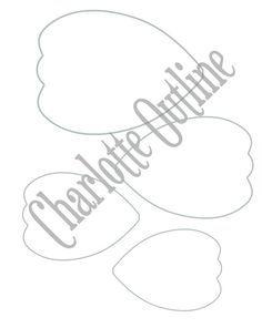 BRICOLAJE papel gigante flor para imprimir por CatchingColorFlies