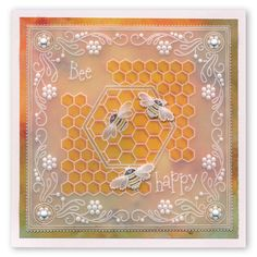 Special Day Parchlets One Day Special Parchment Design, Parchment Cards, Bee Cards, Bee Happy, Card Patterns, Flower Frame, Paper Cards, Card Ideas, Birthday Cards