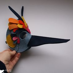 bird mask- inspiration for the girls owl costume