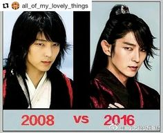 Yesss!!! I just love that someone made this!! Yong (2008-Iljimae) Wang So (2016-Moon Lovers) Lee Joon Gi then and now. LOOOVE both characters ❤