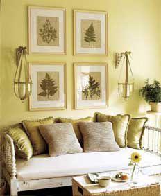 Framed botanical prints/paint color/diningroom