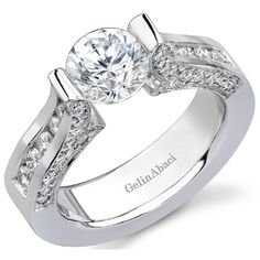 Elaborate Tension Engagement Ring by http://www.engagediamonds.com/