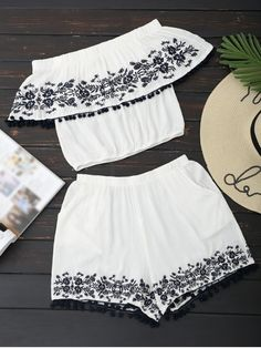 Up to 80% OFF! Off Shoulder Floral Top And Shorts Set. #Zaful #TwoPieces zaful,zaful outfits,zaful dresses,spring outfits,summer dresses,Valentine's Day,valentines day ideas,valentines outfits,cute,casual,classy,lace,mesh,fashion,style,bottoms,shorts,jumpsuits,rompers,playsuits,playsuit outfit,dressy jumpsuits,playsuits two piece,two piece outfits,two piece dresses,dresses,printed dresses,sundresses,long sleeve dresses,mini dresses,maxi dresses,lace dress @zaful Extra 10% OFF Code:ZF2017
