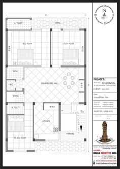 House Layout Plans, My House Plans, Floor Plan Layout, Family House Plans, House Layouts, House Floor Plans, Modern Architectural Styles, Architectural House Plans, 30x50 House Plans