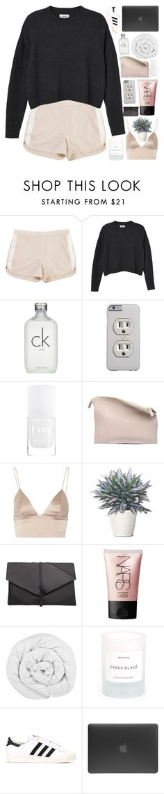 """""""me and my boyfriend."""" by dont-go-to-sleep ❤ liked on Polyvore featuring Tommy Hilfiger, Monki, Calvin Klein, Sabrina Zeng, T By Alexander Wang, MANGO, NARS Cosmetics, The Fine Bedding Company, Byredo and adidas"""
