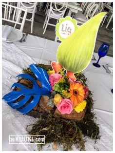 Centro de mesa | cumpleaños | Trolls | Topper | Poppy | fiesta | niña | colores | flores | KUUKI eventos | www.beKUUKI.com
