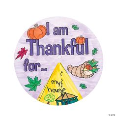 Color Your Own I Am Thankful for Wheels - 12 Pc. | Oriental Trading