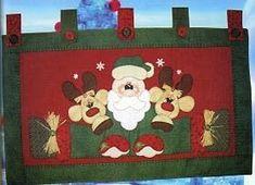 Resultado de imagen de moldes cenefa navideña patchwork