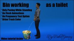 Bin working as a toilet (Tutorial item) by Bakie at Mod The Sims via Sims 4 Updates