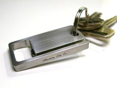 The KeySquare: a better way to carry your keys, open bottles, and look good doing it.