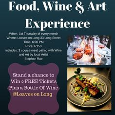 Win 2 Free Tickets to a Food, Wine & Art Experience Plus a Free Bottle of Wine