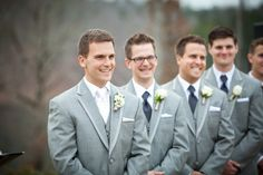 Grey Suits, Groom White Tie