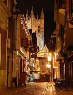 "Late Night, Canterbury, England -- this is where I did a ""grande jete"" in an intersection"