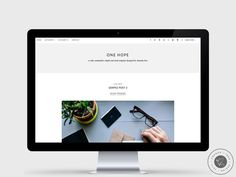 RESPONSIVE BLOGGER TEMPLATE - One Hope - Chic, Minimalist, Grey & Responsive