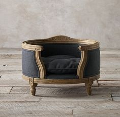 Louis Pet Bed by Restoration Hardware - Found on HeartThis.com @HeartThis | See item http://www.heartthis.com/product/420712944565498892?cid=pinterest