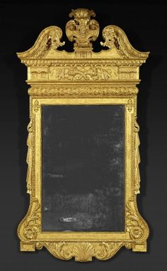A George II Walnut and Parcell Gilt Mirror, CIRCA Height: Width: The rectangular beveled mirror plate surmounted by a swan's neck pediment with egg and dart molded edge Overmantle Mirror, Trumeau Mirror, Beveled Mirror, Mirror Mirror, Fine Furniture, Antique Furniture, Small Mirrors, Antique Mirrors, Garden Lodge