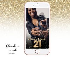 "This listing is for a Finally 21 Custom Birthday Snapchat Geofilter updated with the requested name, date or colors you desire! Geofilters are the perfect way to show off where you are or what you're up to. Order one for your own event or surprise a friend with one for theirs!  Purchase this filter and please provide the following information in the ""notes to seller' box at checkout. This information is MANDATORY in order to provide your updated filter.  -Name of the Birthday Girl or Guy…"