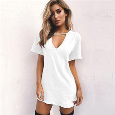 faecc9dd91ccd2 Women s Casual Long T Shirt Tshirt Dress Outfit