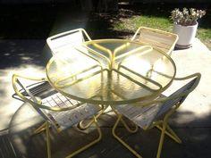 Brown Jordan Kailua Patio Set In Bright Yellow. Vintage Patio FurnitureGarden  ...