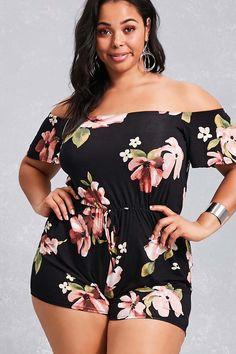 Plus Size Floral Romper Look Plus Size, Plus Size Girls, Plus Size Model, Plus Size Fashion For Women, Plus Size Womens Clothing, Plus Size Outfits, Plus Fashion, Curvy Women Fashion, Look Fashion