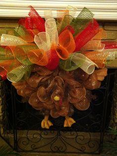 Turkey Wreath  Laurel Watkins Wreath ideas
