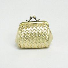 Mini Kisslock Coin Purse Pouch (Gold) WonderMolly. $4.95