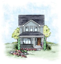 House Plan 66715   Traditional    Plan with 1297 Sq. Ft., 3 Bedrooms, 3 Bathrooms