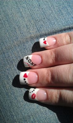 February nail art on Pinterest | Valentine Nails, Valentine Day ...