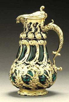 silver gilt jug