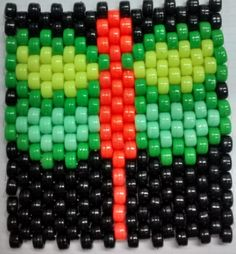 PORTAVASOS LIBELULA NEON Peyote Patterns, Bead Patterns, Seed Bead Earrings, Seed Beads, Beaded Banners, Beaded Bracelets, Necklaces, Native American Beading, Flower Bracelet