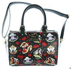 Loungefly Disney Female Villains  amp  Roses Malificent Vegan Shoulder Bag  Purse Disney Villains 1e6ff1399e27