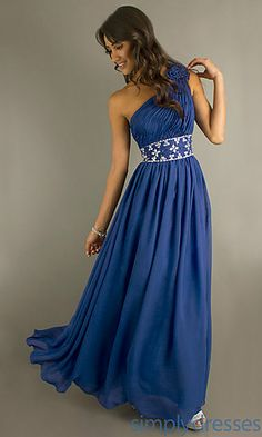One Shoulder Prom Gown at SimplyDresses.com