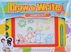 DRAW & WRITE Magnetic Erasable Drawing Board - Travel Size! NEW in Box! #Kidolino