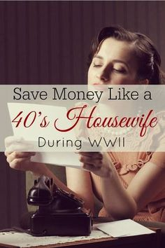 Tips from Housewives Save money like a housewife with these frugal tips from WWII.Save money like a housewife with these frugal tips from WWII. Living On A Budget, Frugal Living Tips, Frugal Tips, Simple Living, Ways To Save Money, Money Tips, Money Saving Tips, Managing Money, Money Budget