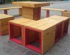 repurposed wooden pallet furniture set