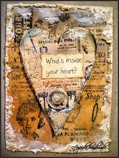 Inside Your Heart ATC - @Sasha Hatherly Hatherly MacDonald , an idea after our chat yesterday? X