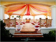 Outdoor sikh wedding #indian #cancun #beach